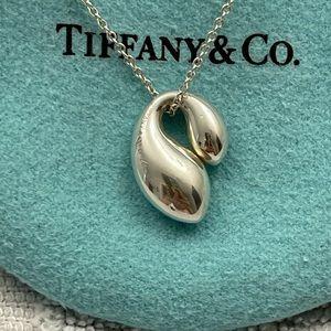 Tiffany & Co. Double Teardrop Pendant Necklace